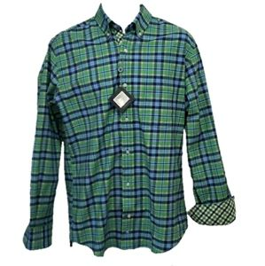 Tailorbyrd Plaid Long Sleeve Shirt  - Men's